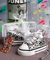 Oh So Cute Animal Print Baby Sneaker Key Ring